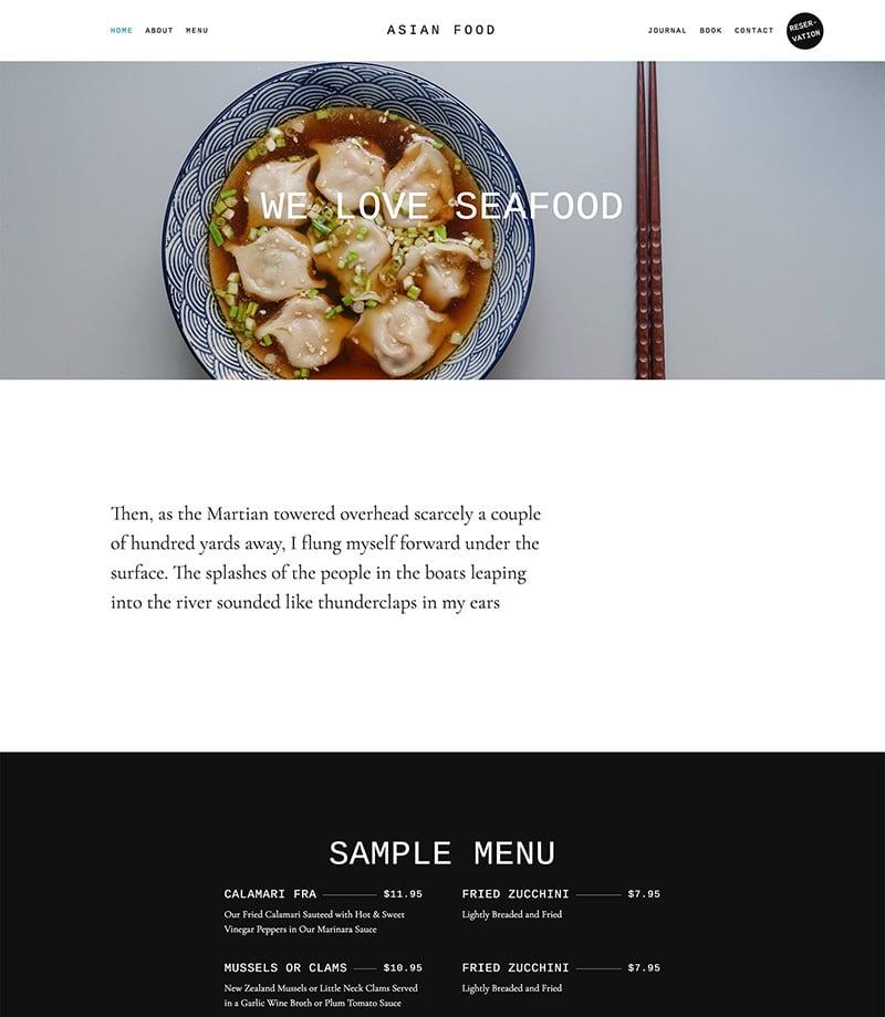 Asian Food Screen